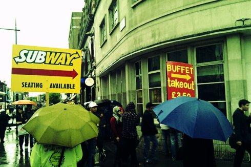 Subway buffet Camden market