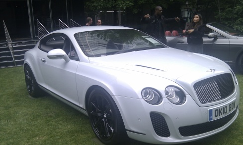 Motor Expo Bentley white on white