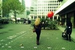 The girl with the red ballon