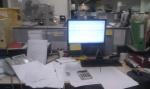 Voila ce a quoi ressemble mon bureau a la fin de la journee