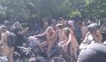 Cycliste nue